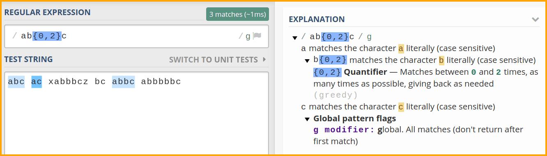 regex101 example