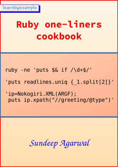 Ruby one-liners cookbook cover image